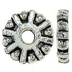 Zink Legierung Perlen Schmuck, Blume, 9x2mm, Bohrung:ca. 2mm, Länge:1 , ca. 4000PCs/kg, verkauft von kg