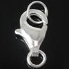 925 Sterling Silber Karabinerverschluss, 6x10.80x2.80mm, Bohrung:ca. 2.5-4mm, 10PCs/Tasche, verkauft von Tasche
