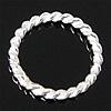 925 Sterlingsilber Biegering, 925 Sterling Silber, Kreisring, 10x8x1mm, 50PCs/Tasche, verkauft von Tasche