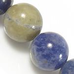 Sodalith Perlen, Sosalith, rund, natürlich, Grade A, 6mm, Bohrung:ca. 0.8mm, Länge:ca. 15.5 ZollInch, 10SträngeStrang/Menge, ca. 60PCs/Strang, verkauft von Menge