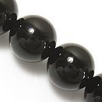 Glas Edelstein Perle, rund, synthetisch, 8mm, Bohrung:ca. 1mm, Länge:ca. 15 ZollInch, 10SträngeStrang/Menge, ca. 46PCs/Strang, verkauft von Menge