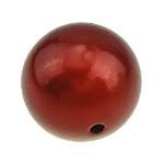 ABS-Kunststoff-Perlen, ABS Kunststoff, rund, rot, 25mm, Bohrung:ca. 3mm, 29PCs/Tasche, verkauft von Tasche