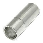 Messing Bajonettverschluss, Zylinder, Platinfarbe platiniert, frei von Nickel, Blei & Kadmium, 18x6mm, Bohrung:ca. 5mm, 100PCs/Tasche, verkauft von Tasche