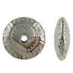 Verkupfertes Kunststoff-Perlen, Verkupferter Kunststoff, Rondell, Platinfarbe platiniert, frei von Nickel, Blei & Kadmium, 18x6mm, Bohrung:ca. 2.5mm, 5Taschen/Menge, 200/Tasche, verkauft von Menge