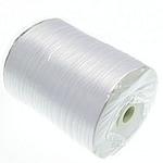 Satinband, mit Kunststoffspule & Karton, weiß, 3mm, Länge:870 HofHof, verkauft von PC