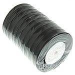 Organza Band, schwarz, 12mm, Länge:500 HofHof, 10PCs/Menge, verkauft von Menge