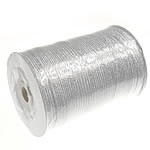 Funkeln Band, mit Kunststoffspule & Karton, Silberfarbe, 3mm, Länge:880 HofHof, verkauft von PC