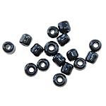 Glänzende Glas-Rocailles, Schimmer, schwarz, 1.90x2.20mm, Bohrung:ca. 0.3mm, ca. 22500PCs/Tasche, verkauft von Tasche