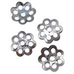 Eisen Perlenkappen, Platinfarbe platiniert, frei von Blei & Kadmium, 6x1mm, Bohrung:ca. 0.5mm, 10000PCs/Tasche, verkauft von Tasche