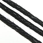 Wachsschnur, Gewachsten Baumwollkordel, schwarz, 1mm, ca. 330m/Menge, verkauft von Menge