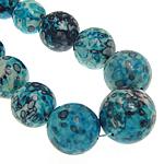Regen Blumen Stein Perlen, rund, synthetisch, 10-20mm, Bohrung:ca. 1mm, Länge:17 ZollInch, 5SträngeStrang/Menge, verkauft von Menge