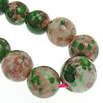 Regen Blumen Stein Perlen, rund, synthetisch, 6-14mm, Bohrung:ca. 1mm, Länge:16.5 ZollInch, 5SträngeStrang/Menge, verkauft von Menge