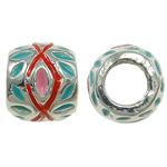 Zink Legierung Europa Perlen, Zinklegierung, Rondell, ohne troll & Emaille, frei von Nickel, Blei & Kadmium, 11x9mm, Bohrung:ca. 5mm, 10PCs/Tasche, verkauft von Tasche