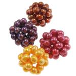 Ball Cluster Zuchtperlen, Natürliche kultivierte Süßwasserperlen, rund, gemischte Farben, 24mm, 5PCs/Tasche, verkauft von Tasche