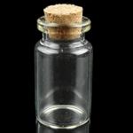 Schmuck Nagelkasten, Glas, transparent, klar, 22x40mm, 20PCs/Tasche, verkauft von Tasche