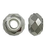 European Kristall Perlen, Rondell, Sterling Silber-Dual-Core ohne troll, metallische Farbe plattiert, 15x10mm, Bohrung:ca. 5mm, 20PCs/Tasche, verkauft von Tasche