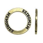 Zinklegierung Verbindungsring, Kreisring, frei von Nickel, Blei & Kadmium, 22x2mm, Bohrung:ca. 15mm, 10PCs/Tasche, verkauft von Tasche