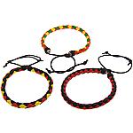 Mode Wachsschnur Armbänder, PU Leder, mit Gewachsten Baumwollkordel, einstellbar, gemischte Farben, 6.50mm, Länge:6-10 ZollInch, 50SträngeStrang/Menge, verkauft von Menge