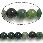 Natürliche Indian Achat Perlen, Indischer Achat, rund, 6mm, Bohrung:ca. 0.8-1mm, Länge:ca. 15.5 ZollInch, 10SträngeStrang/Menge, ca. 65PCs/Strang, verkauft von Menge
