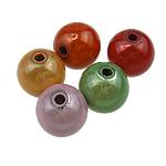 Traumhafte Acrylperlen, Acryl, rund, gemischte Farben, 14mm, Bohrung:ca. 2.5mm, 335PCs/Tasche, verkauft von Tasche