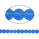 Runde Kristallperlen, Kristall, Saphir, 8mm, Bohrung:ca. 1.5mm, Länge:12 ZollInch, 10SträngeStrang/Tasche, verkauft von Tasche