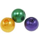 Kunststoffperlen, ABS Kunststoff, rund, gemischte Farben, 8mm, Bohrung:ca. 2mm, ca. 2000PCs/Tasche, verkauft von Tasche