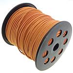 Wollschnur, mit Kunststoffspule, doppelseitig, orange, 2.50x1.50mm, Länge:100 HofHof, verkauft von PC