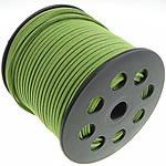 Wollschnur, mit Kunststoffspule, doppelseitig, grün, 2.50x1.50mm, Länge:100 HofHof, verkauft von PC