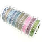 Stahldraht, mit Kunststoffspule, verschiedene Größen vorhanden, gemischte Farben, 10PCs/Menge, 10m/PC, verkauft von Menge