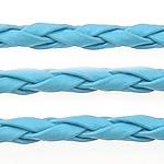 Lederband, PU Leder, blau, 3mm, Länge:100 HofHof, verkauft von Menge