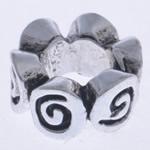 Zink Legierung Europa Perlen, Zinklegierung, Blume, ohne troll, frei von Nickel, Blei & Kadmium, 9x5mm, Bohrung:ca. 4mm, 10PCs/Tasche, verkauft von Tasche