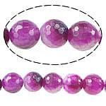 Natürliche Rosa Achat Perlen, rund, facettierte, 16mm, Bohrung:ca. 1.5-2mm, Länge:ca. 15 ZollInch, 5SträngeStrang/Menge, verkauft von Menge