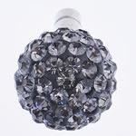 Kopfhöreranschluss Staubschutz-Stöpsel, Ton, mit Zinklegierung, rund, mit Strass, Schatten Kristall, 12x22mm, 10PCs/Tasche, verkauft von Tasche