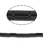 Nicht-magnetische Hämatit Perlen, Non- magnetische Hämatit, Zylinder, schwarz, Grade A, 5x8mm, Bohrung:ca. 1mm, Länge:15.5 ZollInch, 10SträngeStrang/Menge, verkauft von Menge