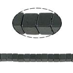 Magnetische Hämatit Perlen, Würfel, schwarz, Grade A, 4x4mm, Bohrung:ca. 1mm, Länge:15.5 ZollInch, 10SträngeStrang/Menge, verkauft von Menge