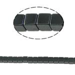 Magnetische Hämatit Perlen, Würfel, schwarz, Grade A, 3x3mm, Bohrung:ca. 1mm, Länge:15.5 ZollInch, 10SträngeStrang/Menge, verkauft von Menge
