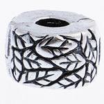 Messing European Clipverschluss, Rondell, frei von Nickel, Blei & Kadmium, 9x6mm, Bohrung:ca. 3mm, verkauft von PC