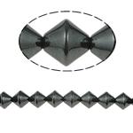 Magnetische Hämatit Perlen, schwarz, Grade A, 8x8mm, Bohrung:ca. 1.5mm, Länge:15.5 ZollInch, 10SträngeStrang/Menge, verkauft von Menge