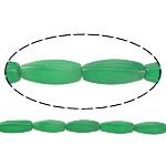 Jade Perlen, Malaysia Jade, oval, natürlich, grün, 29.50x10mm, Bohrung:ca. 1.5mm, ca. 12PCs/Strang, verkauft per ca. 14 ZollInch Strang