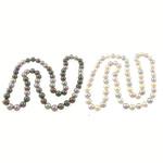 Südsee Muschel Halskette, rund, gemischte Farben, 12mm, Länge:ca. 34 ZollInch, 3SträngeStrang/Tasche, 71PCs/Strang, verkauft von Tasche