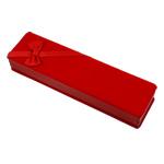 Baumwollsamt Halskettenkasten, Rechteck, rot, 60x203x35mm, verkauft von PC