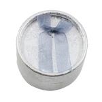 Karton Ringkasten, mit Baumwollsamt, flache Runde, Silberfarbe, 55x35x55mm, 24PCs/Tasche, verkauft von Tasche