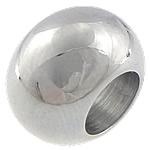 Edelstahl European Perlen, Rondell, verschiedene Größen vorhanden & ohne troll, originale Farbe, Bohrung:ca. 6mm, 50PCs/Tasche, verkauft von Tasche