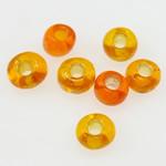 Silbereinzug Glas Rocailles, Glas-Rocailles, Rondell, orange, 2x1.90mm, Bohrung:ca. 1mm, verkauft von Tasche