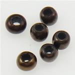 Opake Glas Rocailles, Glas-Rocailles, Rondell, Einbrennlack, braun, 2x1.90mm, Bohrung:ca. 1mm, verkauft von Tasche