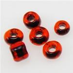 Innen Farben Glas Rocailles, Glas-Rocailles, Rondell, dunkler Lapislazuli, 2x1.90mm, Bohrung:ca. 1mm, verkauft von Tasche