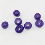 Satinierte Glas Rocailles, Glas-Rocailles, Rondell, violett, 2x1.90mm, Bohrung:ca. 1mm, verkauft von Tasche