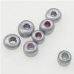 Opake Glas Rocailles, Glas-Rocailles, Rondell, Silberfarbe, 2x1.90mm, Bohrung:ca. 1mm, verkauft von Tasche