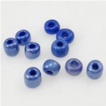Glänzende Glas-Rocailles, Rondell, tiefblau, 2x3mm, Bohrung:ca. 1mm, verkauft von Tasche