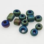 Satinierte Glas Rocailles, Glas-Rocailles, Rondell, gemischte Farben, 3x3.60mm, Bohrung:ca. 1mm, verkauft von Tasche